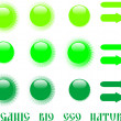 Set of green eco icon and arrow — Vector de stock #5407927