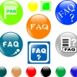 Button FAQ various colored icon — Stock Vector