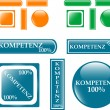 100% competence Button set — Image vectorielle