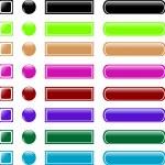 Web button set collection — Stock Vector