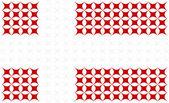Bandera nacional de dinamarca — Vector de stock