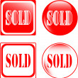 Real estate sold sign — Stock Vector