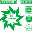 Button go green icons — Stock Vector