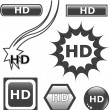 HD glossy web button set — Stock Vector