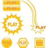 Taste play glossy web icons — Stockvektor