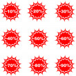 Sale percent button web glossy icon — Stock Vector
