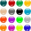 Royalty-Free Stock Vector Image: Empty Colored web button collection