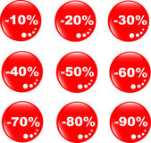 Discount label button web glass icon — Stock Vector