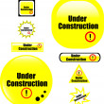 Button under construction website icon — Stock Vector #5658229