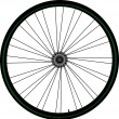 Stock Vector: Bike wheel