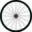 Bike wheel — Stock Vector #5658305