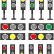 Stock Vector: Traffic light & status bar semaphore
