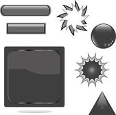 Black shiny set web button — Stock Vector