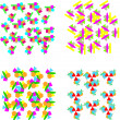 Set of repeating geometric patterns - Stock Vector