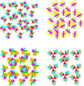 Set of repeating geometric patterns — Stock Vector