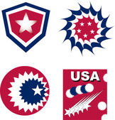 Set of usa independent greetings — Stock Vector