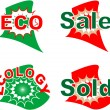 Label eco and sale set - Stock Vector