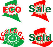 Label eco and sale set — Stock Vector