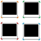 Photo frames with tags — Stock Vector