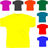 Set of men's T-shirt isolated — Stock Vector
