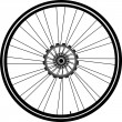 Bike wheel isolated on white - Stock Vector