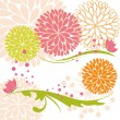 Abstract springtime colorful flower and butterfly — Stock Vector