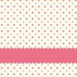 Pink flower polka dot seamless pattern — Stock Vector #6221031