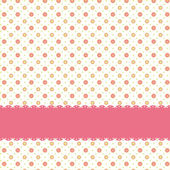 Pink flower polka dot seamless pattern — Stock Vector