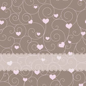 Card design for wedding or valentine — Stockvector