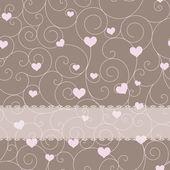 婚礼或情人节卡片设计 — 图库矢量图片