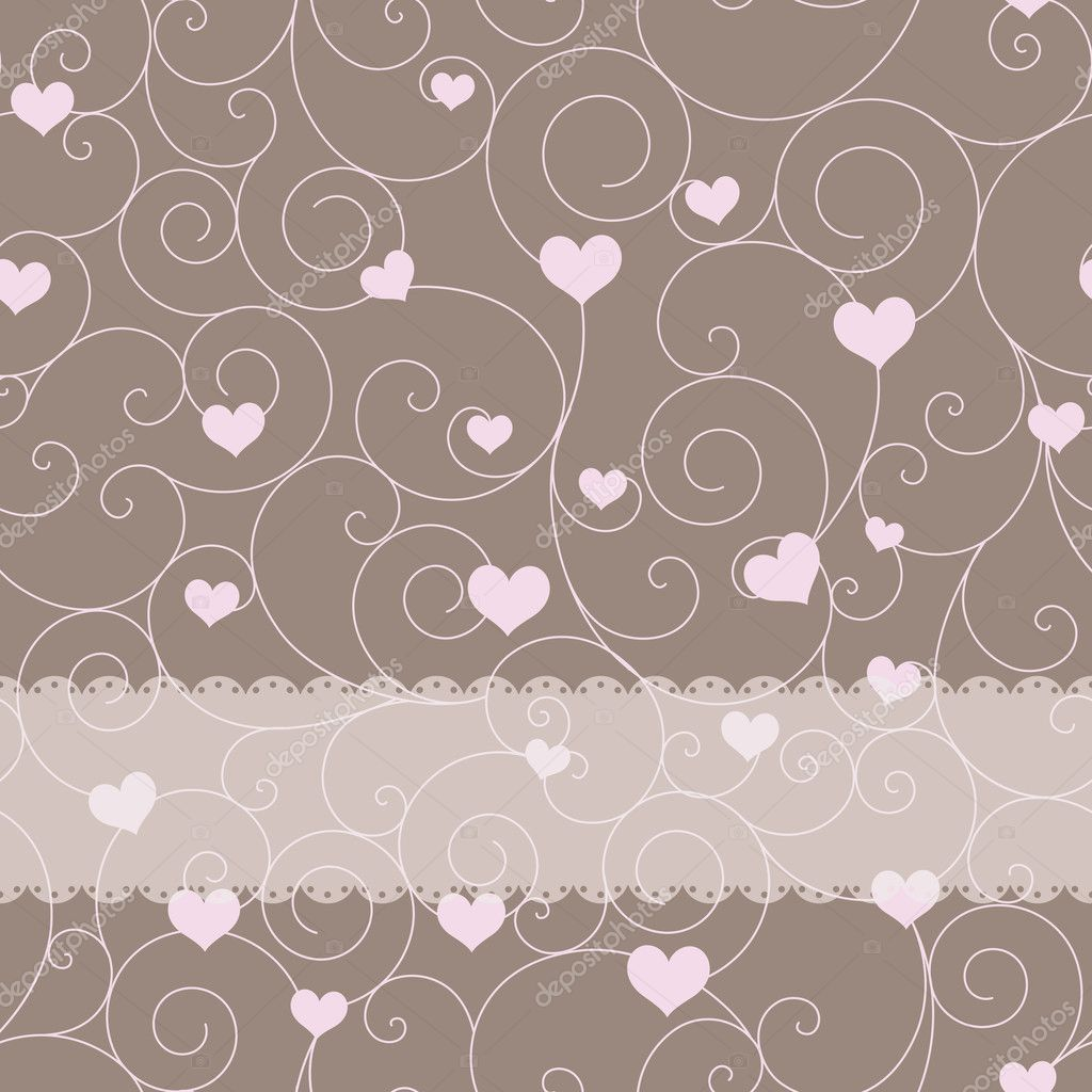 Card design for wedding or valentine's day — Stock Vector #6452767