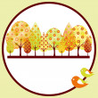 Abstract autumn tree greeting card — Stock Vector