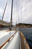 Deck sports boat — Stock Photo