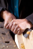 Hands working with a tool — Stock Photo
