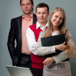Two men and woman working — Stock Photo #5661891