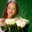 Stock Photo: Womand bouquet of roses