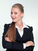 Woman manager in a suit — Stock Photo