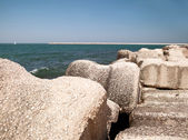 Stone embankment — Foto Stock