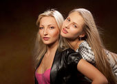 Two pretty women — Stock Photo