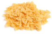 Bow tie pasta on white background — Stock Photo