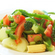 Stock Photo: Fresh salad with cucumber, tomato and peppers