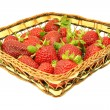 Cesta de fresas — Stock Photo
