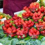 Fresas y albaricoques — Stock Photo