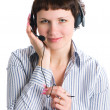The employee of the call center — Stock Photo #5445627
