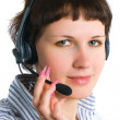 The employee of the call center — Stock Photo #5445631