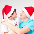 Enamoured gnomes - Stock Photo