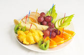 Fruit plate — Stock Photo