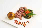 Slices of meat of a duck — Stock Photo