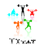 Weightlifters — Stock Vector