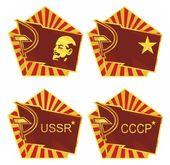 Improvisation on theme of USSR — Stock Vector